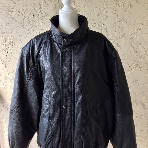 Big Men s Saxony Leather Jacket afac51abe595